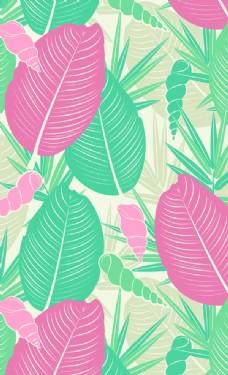 欧美树叶图案图片