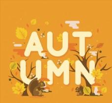 秋季艺术字矢量图片