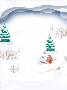 手绘冬天背景图片
