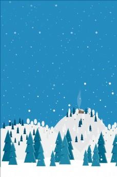 简约冬天背景图片