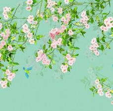 花鸟背景墙图片
