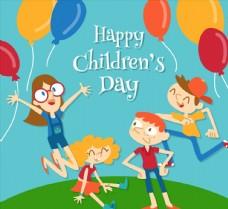 儿童节孩子和气球图片