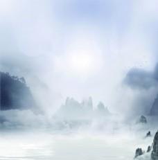 山水雾气图片