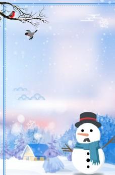 飘雪冬季图片