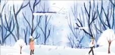 冬天情侣图片