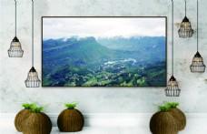 乡村风景装饰画图片