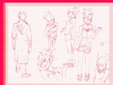 唯美线条男女素描素材漫画人图片