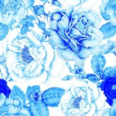青花瓷花卉图片