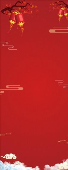红色喜庆餐饮背景图片