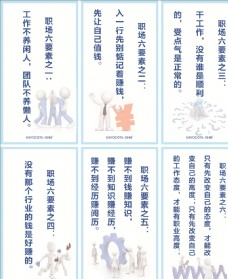 企业公司标语标牌之职场六要素图片