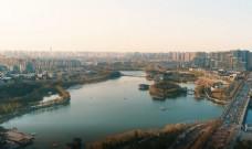 俯瞰西安曲江大美风景