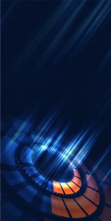 蓝色光线图片