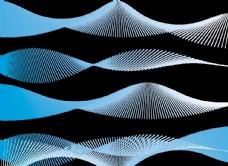 矢量精美蓝色动感线条纹理图片