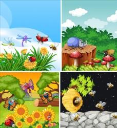 卡通昆蟲圖片