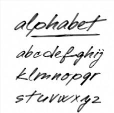 手绘小写字母艺术字图片