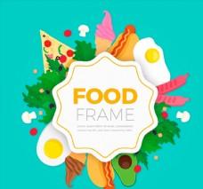 彩色食品框架图片