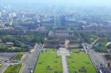俯瞰西安南门广场壮丽美景