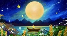 风花雪月插画图片