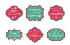 圣诞徽章印章元素设计图片
