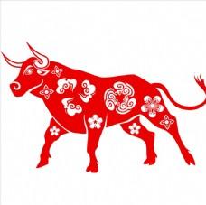 生肖牛剪纸图片
