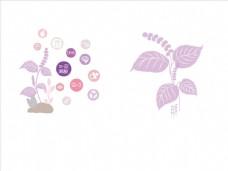 树叶手绘素材图片