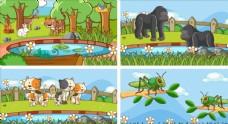 卡通動物圖片
