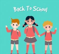 卡通返校儿童图片