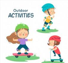 可爱户外运动儿童图片