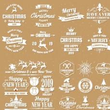 白色圣诞新年标志图片