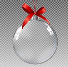 透明圣诞球元素图片