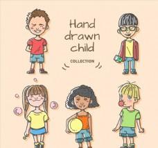手绘顽皮儿童图片