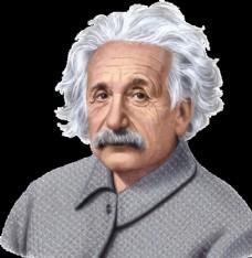 伟大科学家爱因斯坦的卡通画像高图片