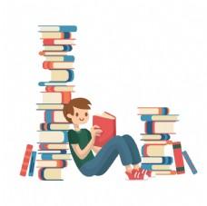 少儿读书图片