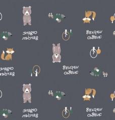 卡通熊狐貍刺猬圖片