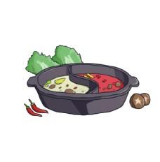 手繪卡通火鍋素材圖片