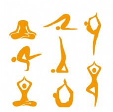 矢量瑜伽动作图片