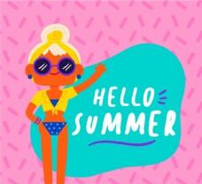 女子夏季艺术字图片