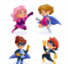 卡通超级英雄儿童图片