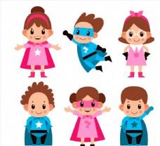 可爱超级英雄儿童图片