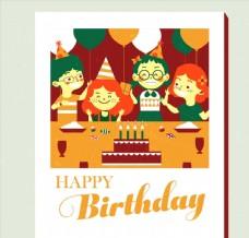 儿童生日快乐祝福卡图片
