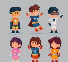 卡通超级英雄装扮儿童图片