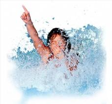 游泳人物图片