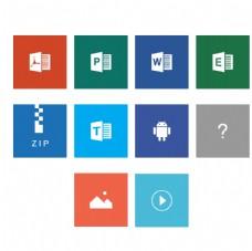 手机文件格式icon图片