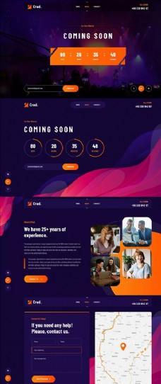 网页模板PSD图片