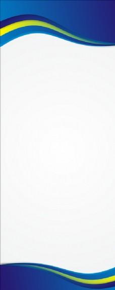 蓝色科技展架背景图片
