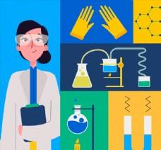 创意女科学家图片