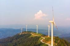 风力发电环保科技背景海报素材图片