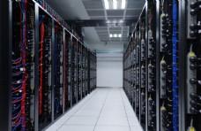 计算机机房科技背景海报素材图片