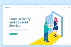 外卖送餐员网页设计图片