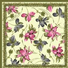 花方巾图片